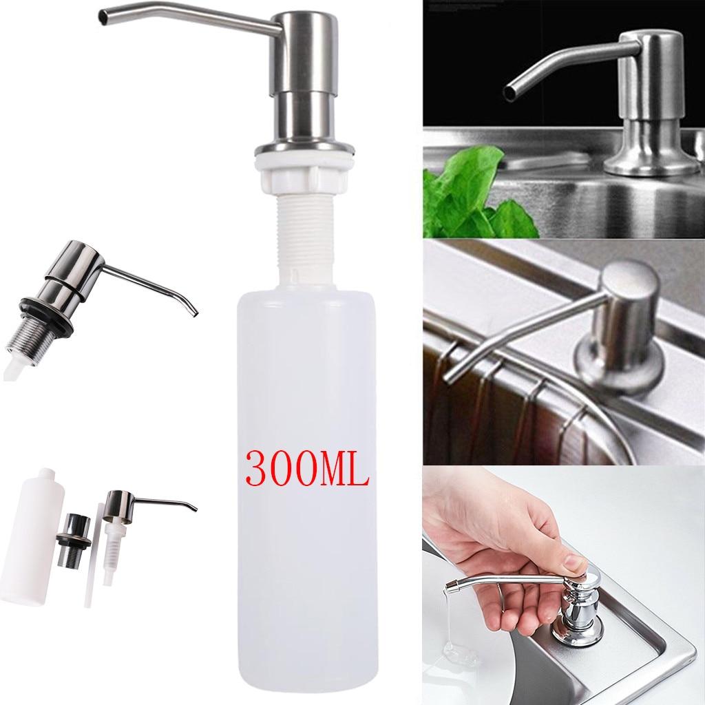 US $2.38 34% OFF|300ml Bathroom Faucet Sink Soap Dispenser Liquid Soap  Lotion Dispenser Pump Storage Holder Bottle Kitchen Replace Bottle L4-in  Liquid ...