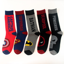 New Fashion Funny Cute Avenger Union Sock Men Colored Superhero Superman Hulk Ca