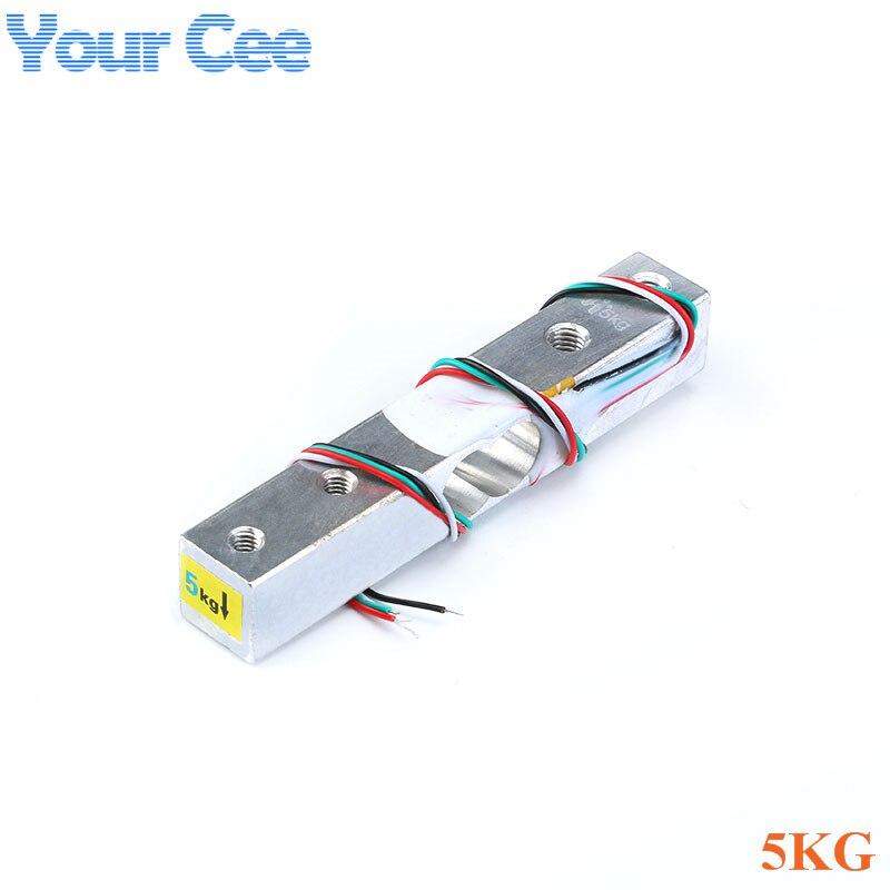 Тензодатчик 1 кг 5 кг 10 кг 20 кг HX711 AD модуль датчик веса электронные весы алюминиевый сплав взвешивания датчик давления - Цвет: 5KG