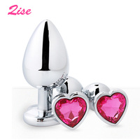Qise 3pcs/Set Small Medium Big Stainless Steel Metal Anal Plug Dildo Sex Toys Products Butt Plug Gay Anal Beads