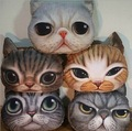 35cm 3D cats meow star people hold pillow giant Stuffed pillow cushion for leaning on plush toy big face cat nap mat