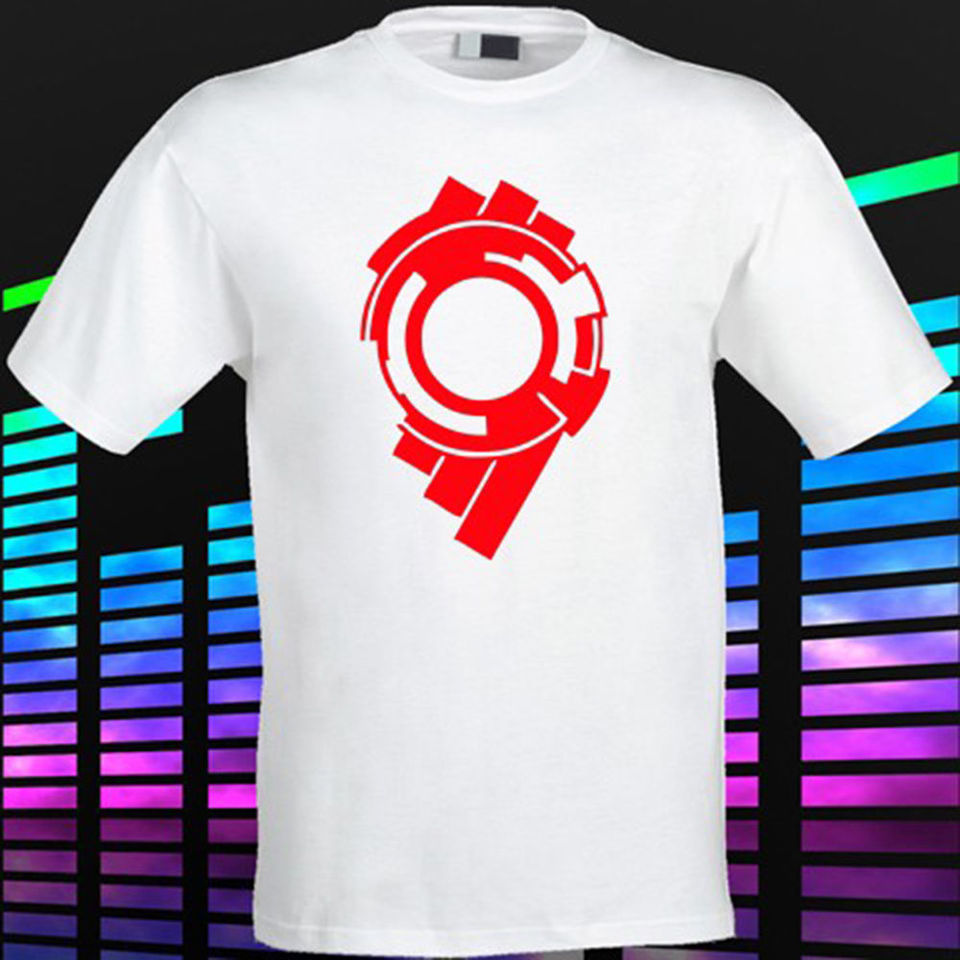 New Ghost In The Shell Vector Logo Men S White T Shirt Size S To 2xl Summer The New Fashion For Short Sleeve O Neck T Shirt Fashion T Shirt White T Shirtghost In Shell Aliexpress