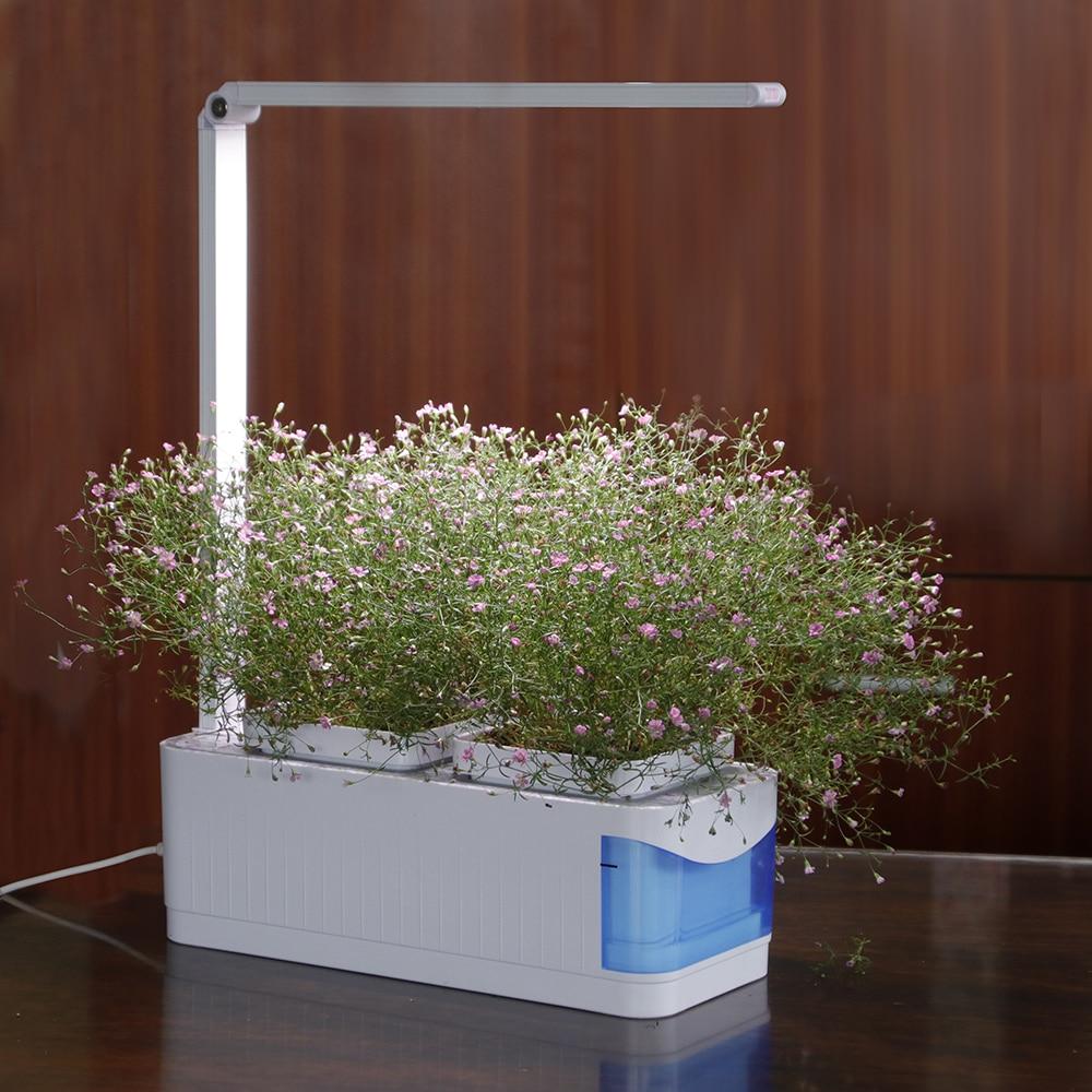 Multifunctional Smart Indoor Herb Gardening Planter Kit Herb Hydroponic Growing System Led Desk Reading Lamp Ac100 240v Led Grow Lights Aliexpress
