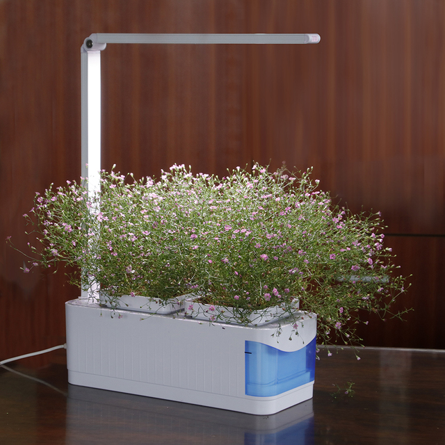 Multifunctional Smart Indoor Herb Gardening Planter Kit Hydroponic Growing System Led Desk Reading Lamp Ac100