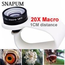 SNAPUM mobile phone Macro Lens 20X Super Cellphone Macro Lenses for Huawei xiaomi iphone