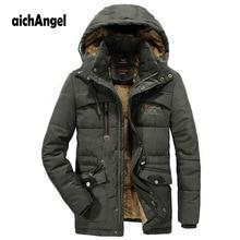цена на Men Winter Jacket Plus Size Thick Warm Parka Fleece Fur Hooded Military Jacket Wool Liner  Coat Male Outwear Windbreaker Jacket
