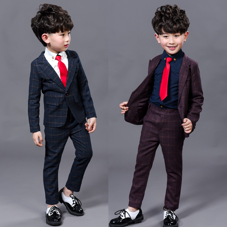 2017New Children Suit Baby Boys Suits Kids Blazer Boys Formal Suit For Wedding Boys Clothes Set Jackets Blazer+Pants 2pcs 3-12Y blazers for boys spring kids clothes suit formal plaid coat vest pants 3pcs set boys wedding suit 3 10y boys suits for wedding