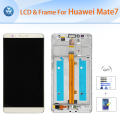 For Huawei Mate 7 LCD repair Original LCD display touch screen digitizer glass frame assembly 6 inch black white gold+Tools+Film