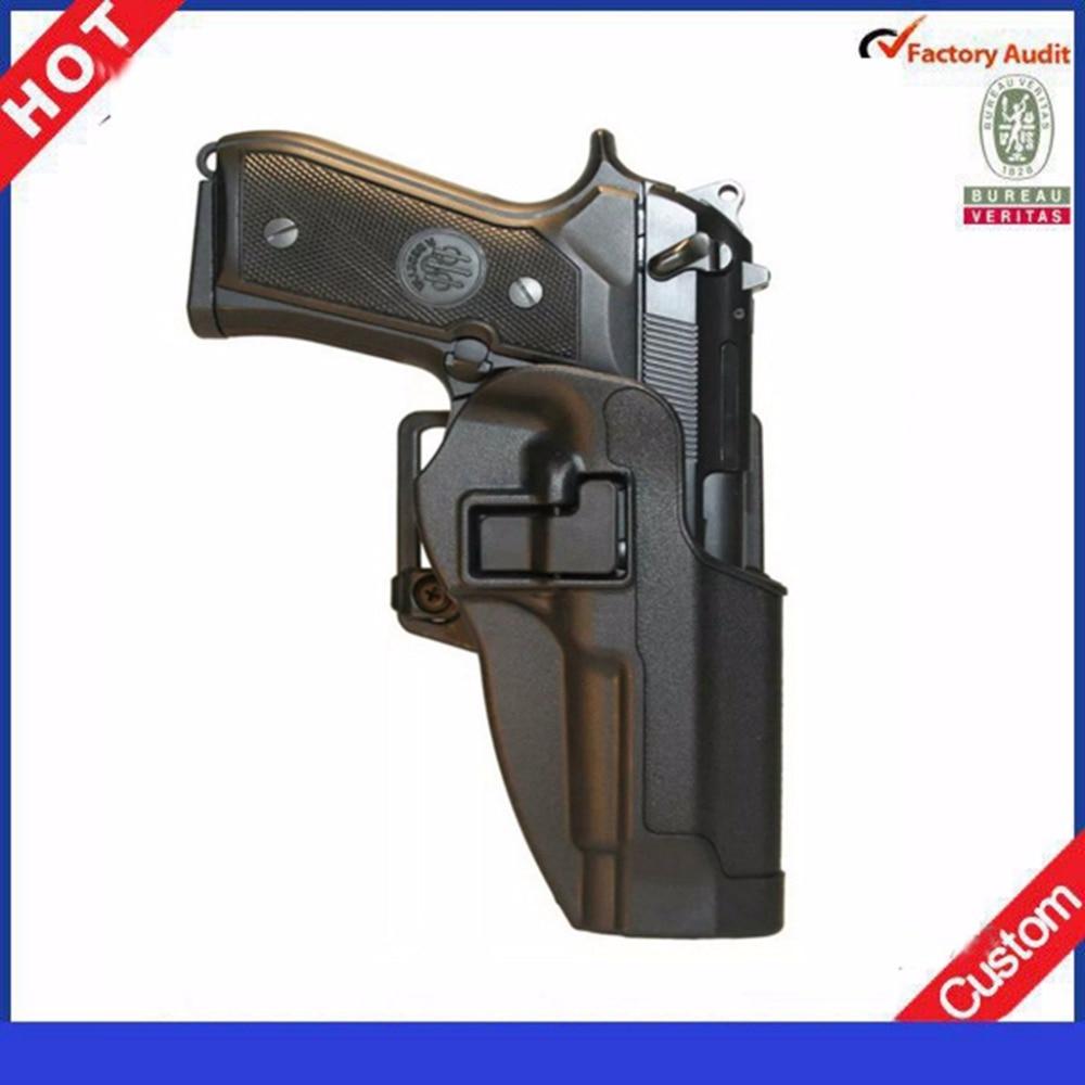 Tactical Right Hand Gun Case Waist Paddle Belt Loop Pistol Holster For Beretta M9 M92