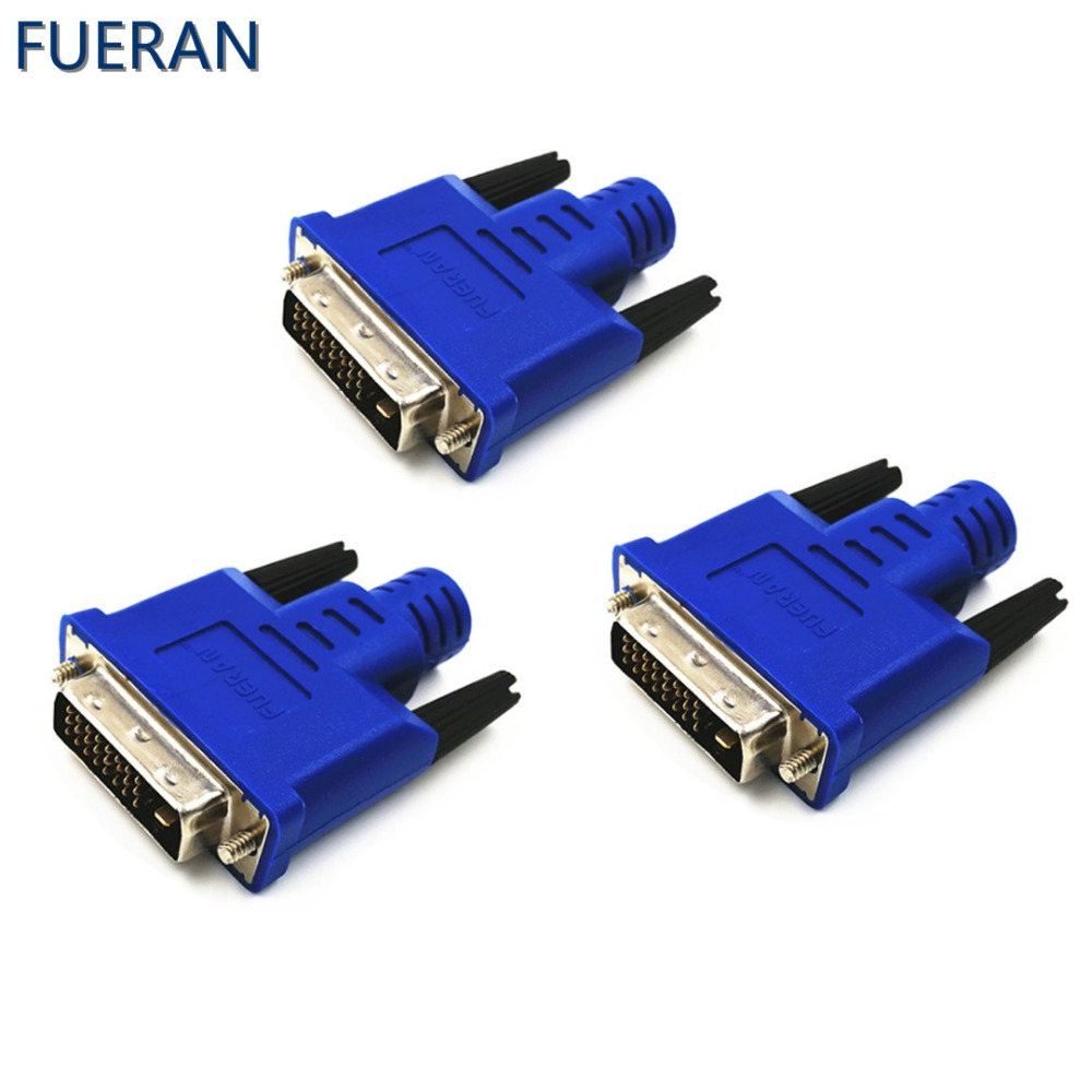 FUERAN 3 / Pcs DVI Dummy Plug DDC EDIDHeadless Ghost, ekrano emuliatorius (Fit Headless-25601600 @ 60hz)