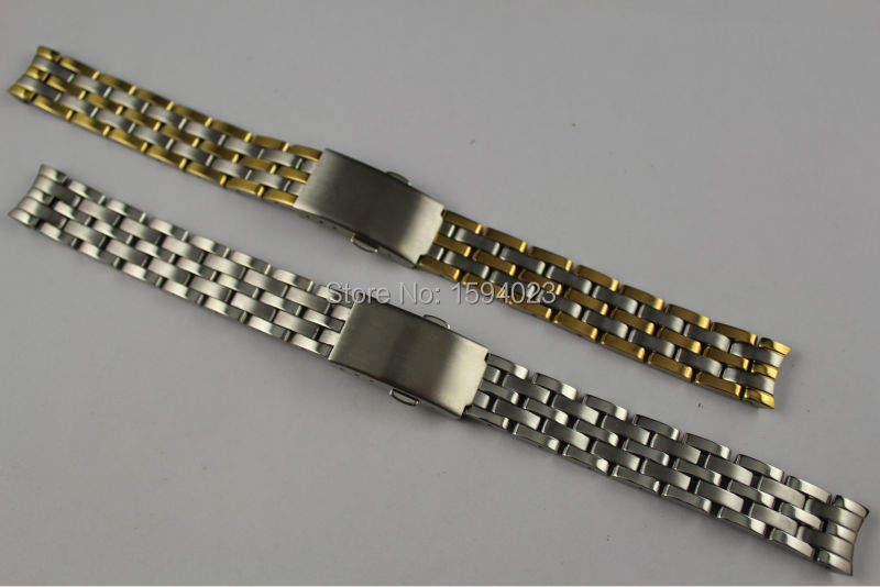 14mm T033210 New Watch Parts Stainless steel bracelet strap Watch Bands For T033 Free Shipping