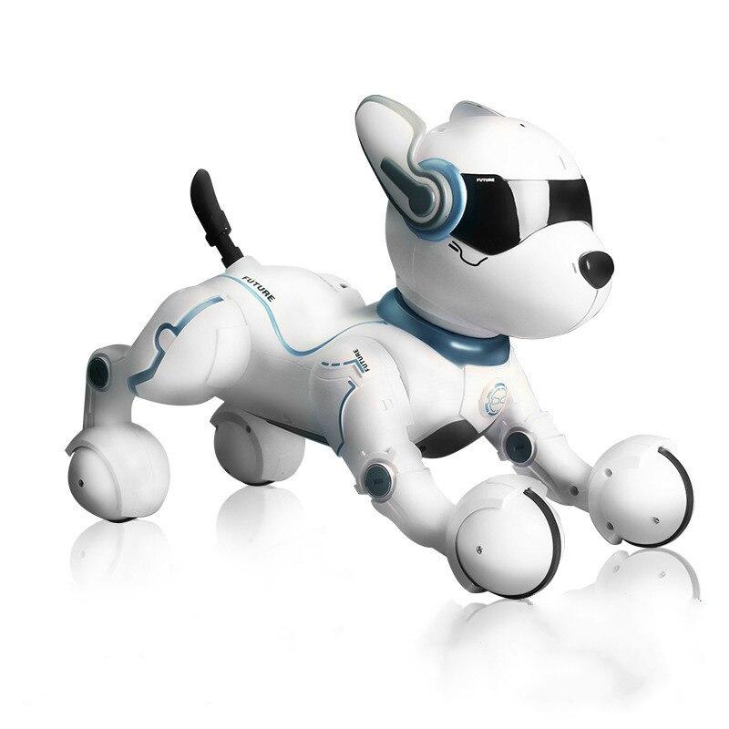 2,4G Control remoto inalámbrico inteligente Robot perro niños juguete inteligente parlante Robot perro juguete electrónico mascota cumpleaños regalo - 3
