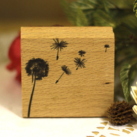 High Quality 5 5cm Dandelion Diy Postcard Or Bookmark Scrapbooking Stamp Beatiful Wooden Rubber Stamps Free