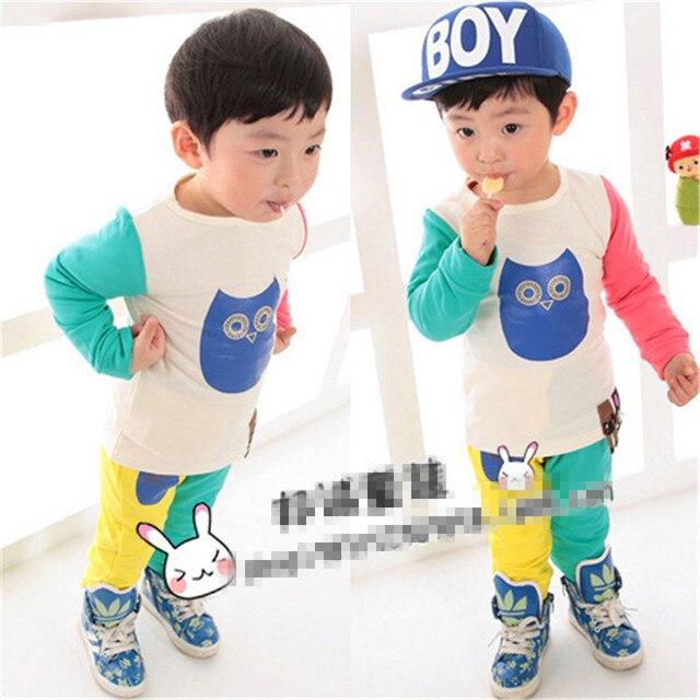 2016 Limited Sale Vestidos Vestido Baby Born Girl Clothes Children's And Accessories Children Long Pure Cotton Owl Set Xt003