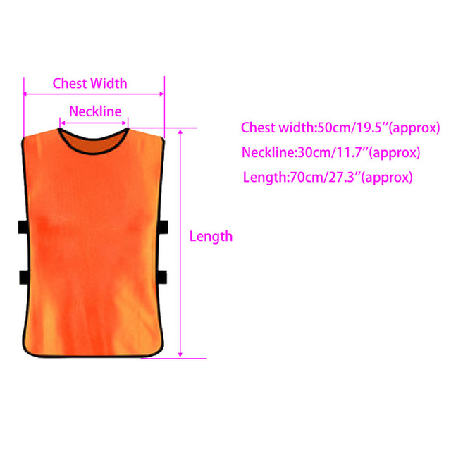 Team Football Soccer Training Adults Pinnies Jerseys Scrimmage Vest Plus Size #A