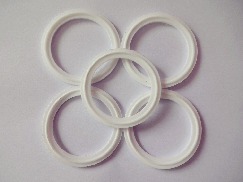 Free Shipping 2(51mm) ID48*OD64mm Sanitary Tri Clamp PTFE sealing Gasket resist ,5pcs free shipping ptfe stir rod for overhead stirrer