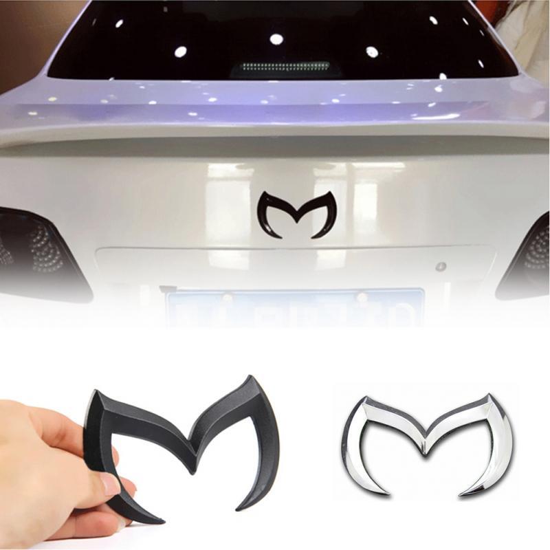Chrome Metal Black Red Silver Gold For Mazda M Bat Car Stickers Decoration Metal Car Tail Hood Decals Emblems For Mazda 6 3 shoulder bag