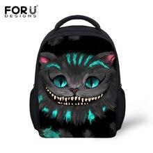 Forudesigns niños morral del hombro moda lindo gato 3d kids school book mochila para niños niñas mochilas mochilas infantils