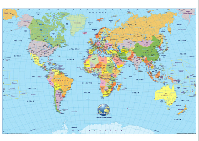 The World Map Home Decor Poster 20x30 inches High quality Print ...