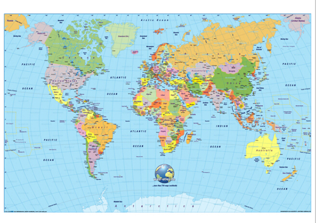 The World Map Home Decor Poster X Inches High Quality Print - High quality world map poster