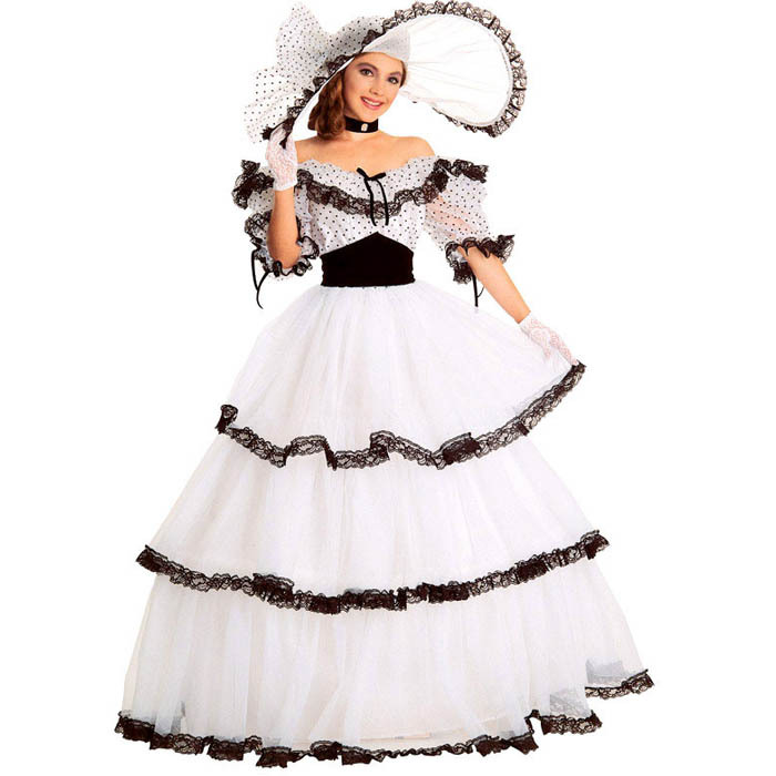 Southern Belle Costume Victorian Dress Costumes For Women White Civil War Gown Ball In Movie Tv From