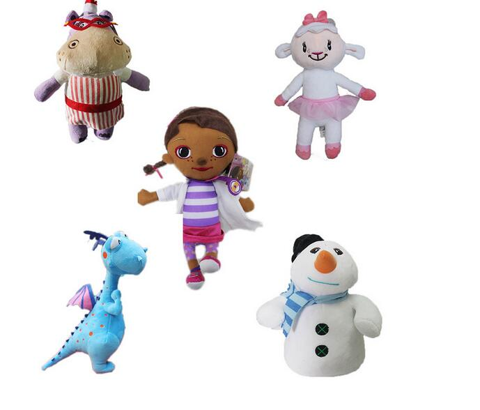 2016 Doc McStuffins Doctor Friend Girls Dragon Sheep Hippo 28 33cm Big Size Plush Toys