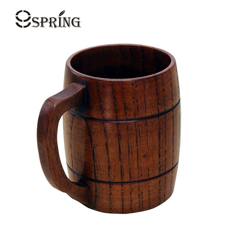 360 ml Artisanat En Bois Bière Tasses avec Poignée Moyen Taille Bois thé  Tasse En Bois Café Tasses Home Bar Verres En Bois Ustensile cadeaux ec790e7703cd