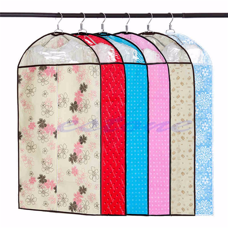 Home Dress Clothes Garment Suit Cover Case Dustproof Storage Bag Protector 3Size #0608# Drop shipping