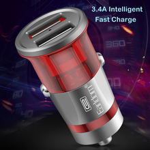 NEW Mini USB Car Charger For Mobile Phone Tablet GPS 5V 3.4 Aintelligent Fast Dual Adapter in