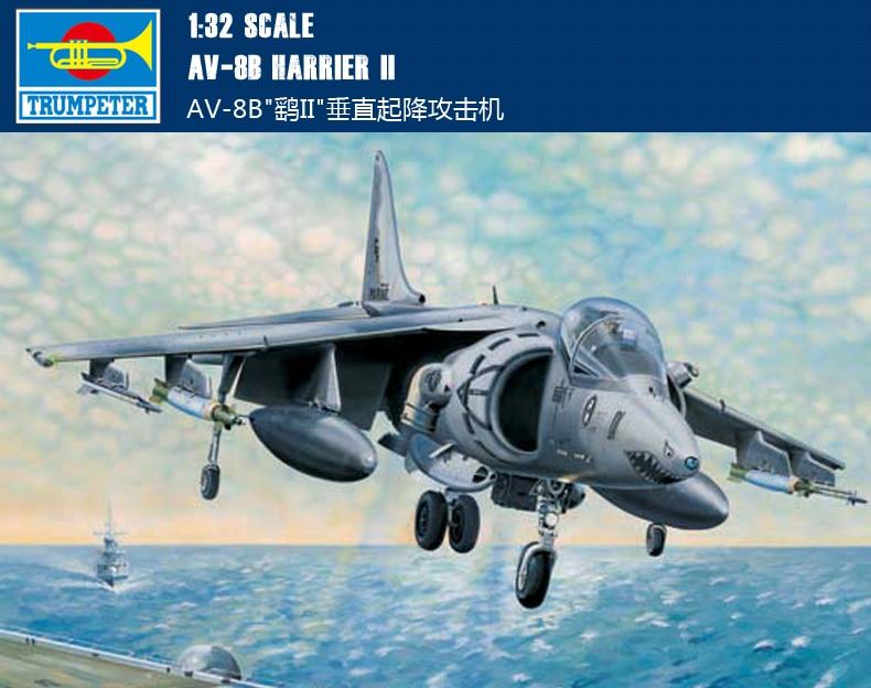 Trumpeter 02229-1:32 AV-8B Harrier II Neu