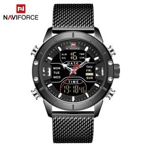 Image 5 - 新しい NAVIFORCE 男性腕時計トップの高級ブランドメンズデュアルディスプレイ軍事スポーツ男性のファッション防水クォーツ腕時計