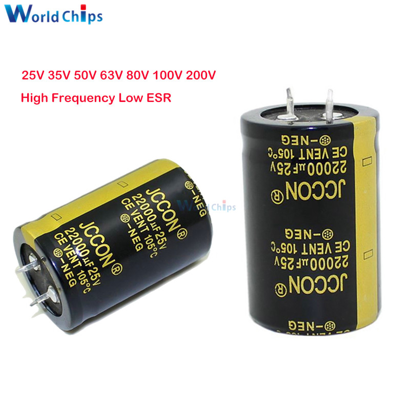 Aluminum Electrolytic Capacitor 25V 35V 50V 63V 80V 100V 200V 680uF 2200uF 4700uF 10000uF 22000uF 47000UF High Frequency Low ESR