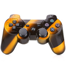Interval Stripe Style Wireless Bluetooth Handle Rechargeable Joystick Controller Gamepad for PS3 O2