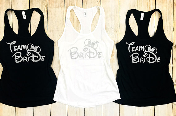 5e687ae5425 Personalized glitter Team Bride Squad Bachelorette wedding Bridesmaids Tank  tops tees singlets besties t Shirts Party
