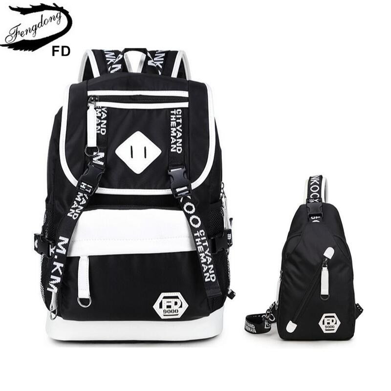 FengDong Men big Backpack waterproof sling chest bag pack male large travel backpack student school bags for boys dropshippingFengDong Men big Backpack waterproof sling chest bag pack male large travel backpack student school bags for boys dropshipping