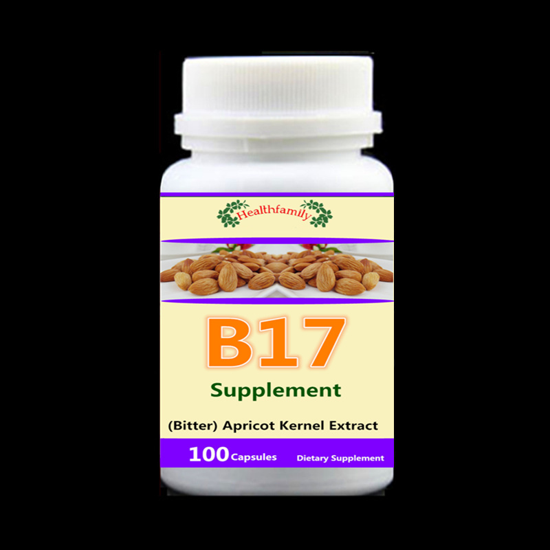 Vitamin B17 Caps (Bitter) Apricot Kernel Extract, Anti-aging Anti-cancer,100pcs/bottle pure nature bitter melon extract bitter melon p e powder charantin to the world