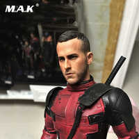 """1/6 Male Head Sculpt Deadpool Ryan Reynolds Head Sculpt Figure Model For 12"""" Male  Action Figure Body"""