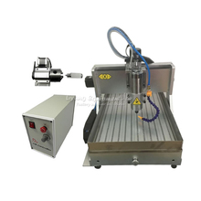 4 axis wood router cnc 6040 metal carving Machine PCB milling with cutter tools and limit switch цена