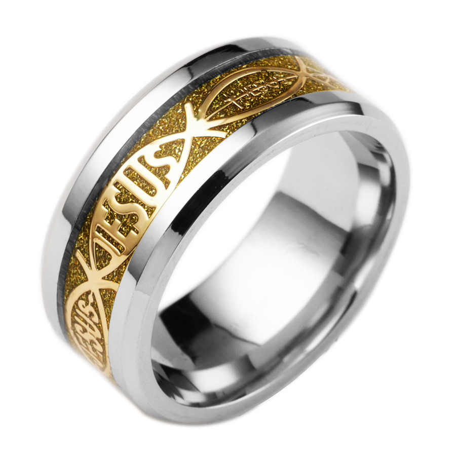 Stylish FAMA Solid Titanium Ring Grooved Center w// CZ Wedding Band Select Size