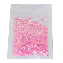 Cheap Nail Glitters Powder Wholesale Retail Shiny Sequins Charms Nail Sweet Pink Love Heart Design Manicure Supplies Tools WY23