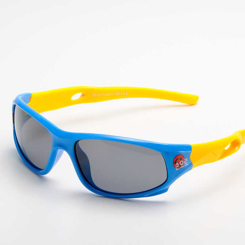 น่ารักเด็กแว่นตากันแดดโพลาไรซ์เด็กเด็กหญิงเด็กชายเด็กชายกีฬาแว่นตา TR90 Polaroid แว่นตากันแดดทารก oculos S816