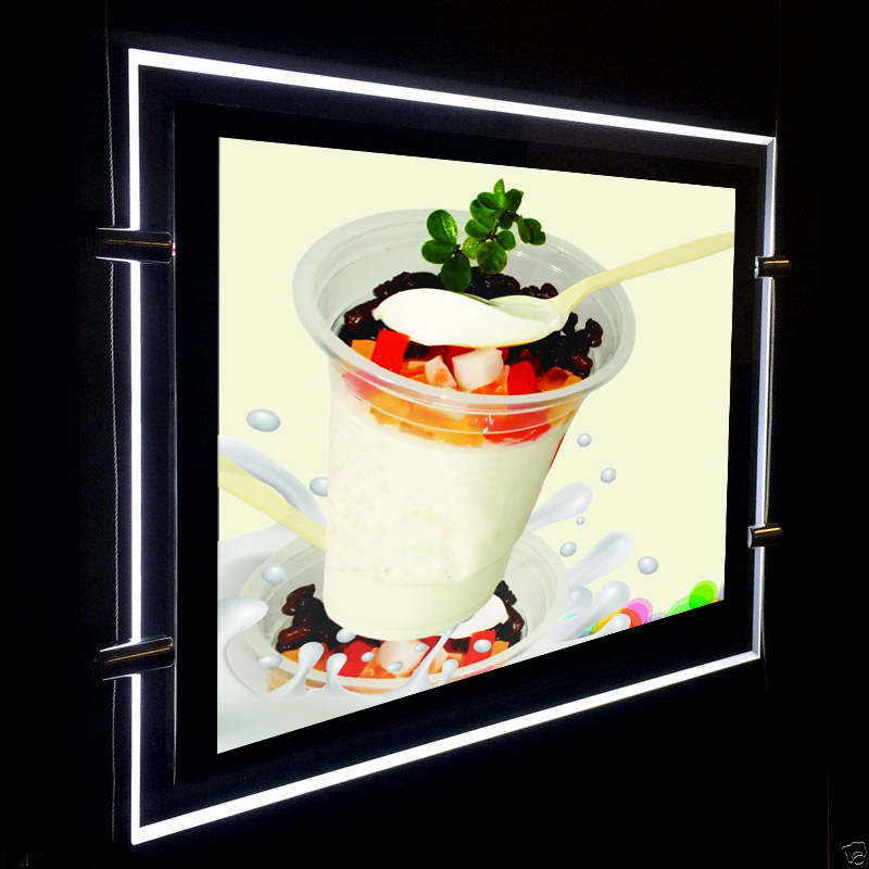 (1unit/Column) A4 Double Sided Magnetic Front Panel LED Window Lightboxesl,Backlit & Edge-Lit LED Light Display Panel 1unit column a4 double sided gallery hanging systems wire hanging picture hanging systems for agent hotel retail store