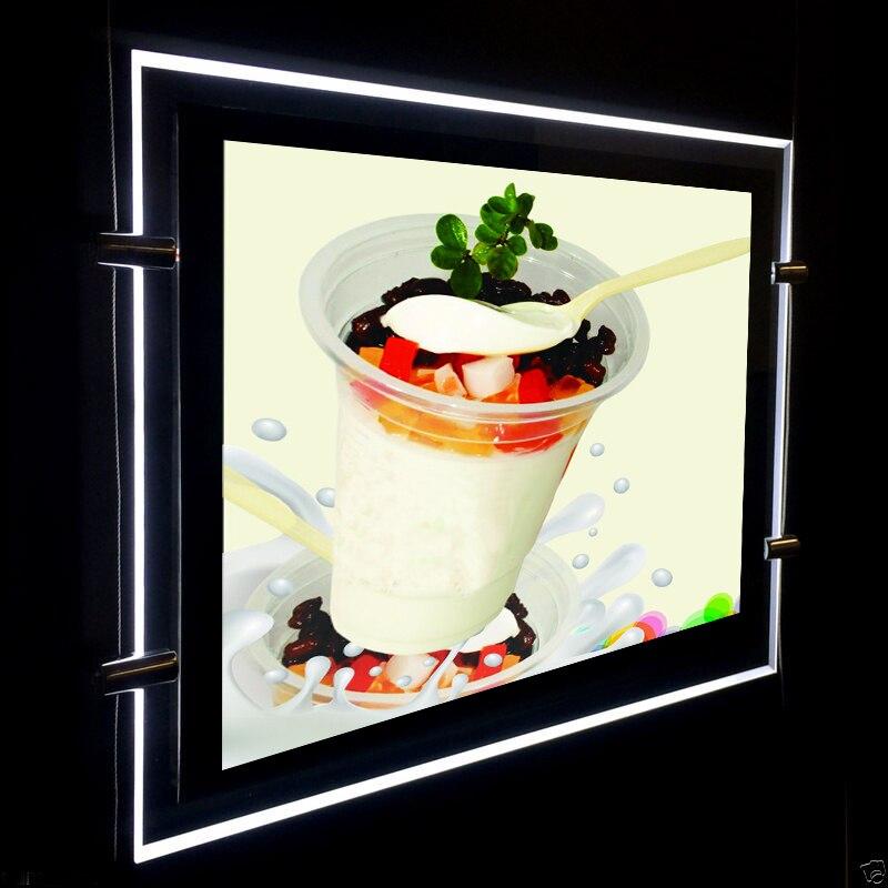 (1unit/Column) A4 Double Sided Magnetic Front Panel LED Window Lightboxesl,Backlit & Edge-Lit LED Light Display Panel