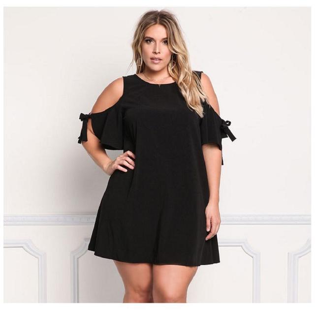 Women Dress Summer O Neck Loose Dress Casual Holiday Black Dress