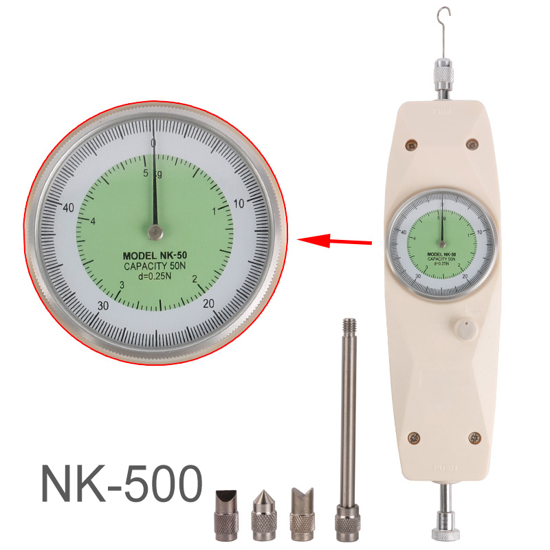 все цены на NK-500 Torque Tester Analog Posh Pull Force Gauge Tension Meter High Quality Dynamometer Measuring Instruments Thrust онлайн