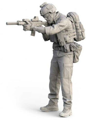 1/35  US  Modern  Soldier Stand   Man Resin Figure Model Kits Miniature Gk Unassembly Unpainted