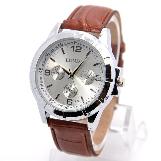 Hot Sale Pu Leather Watch Men Fashion Military Sports Quartz Wrist Watch Relogio
