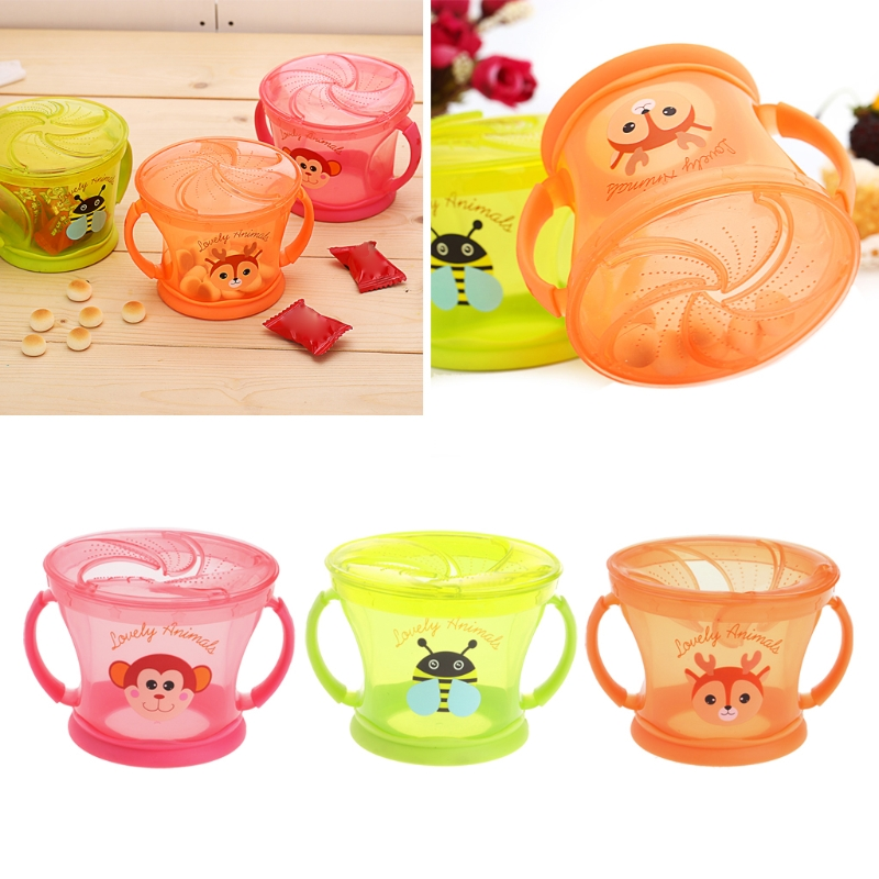 Soft Food Bowl Children Snack Spilled Cup Leak Proof Baby Snack Box Container Feeding Dishes