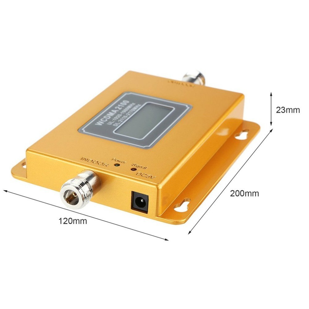 CDMA 3G 4G 2100 MHz LCD 3G del teléfono móvil de la señal de refuerzo repetidor amplificador de señal de teléfono móvil repetidor - 2