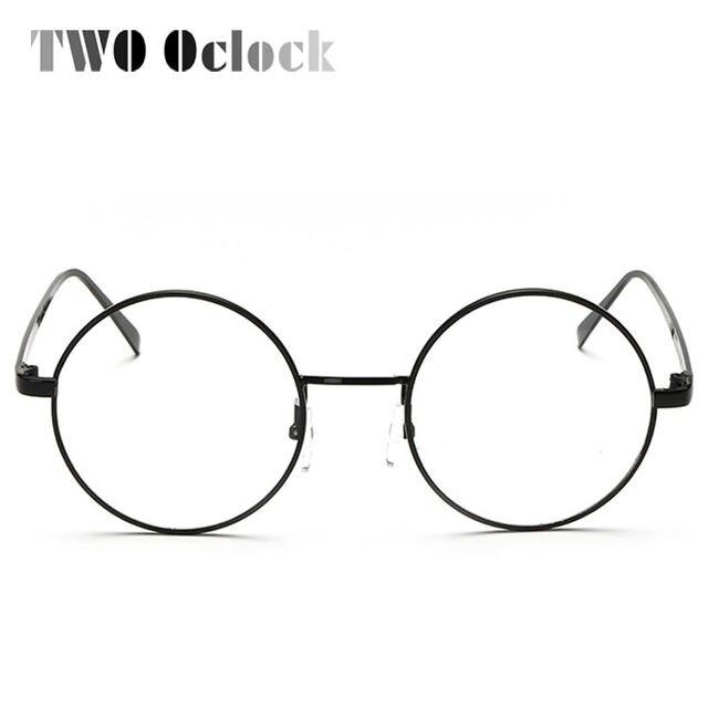 Online Shop TWO Oclock Vintage Big Round Glasses Frame For Women Men ...
